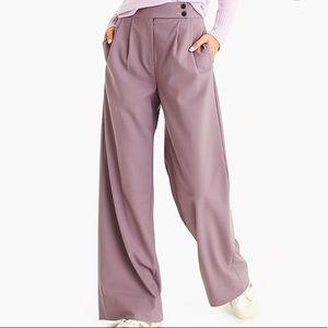 J Crew | high waist wide leg | gray pants | NWT